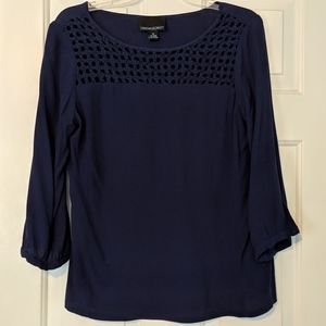 Cynthia Rowley navy nautical blouse M